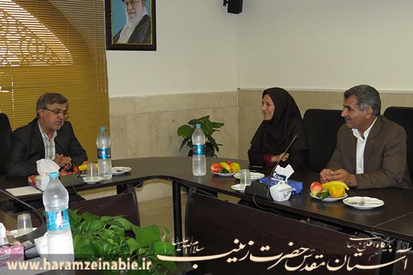 نشست مشترک خانم جلالی با مسئولین آستان مقدس